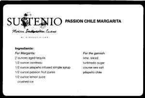 Sustenio's Passion Chile Margarita Recipe