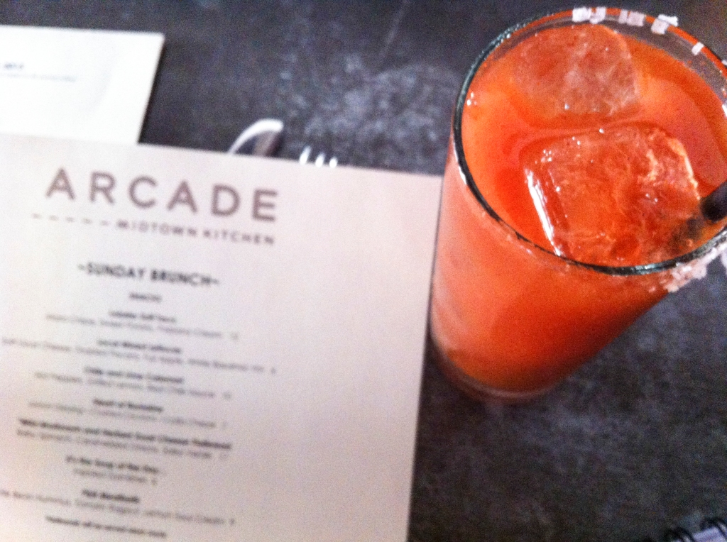 Bloody Mary at Arcade's Sunday brunch