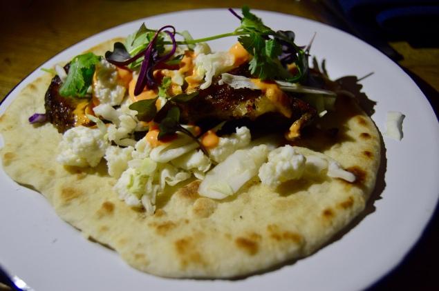 Foie Gras and Brisket tacos